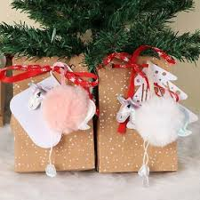 <b>OurWarm</b> Fluffy Christmas <b>Unicorns</b> Ornaments Faux Fur Christmas ...