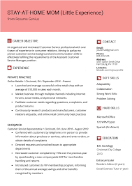 Experience On Resume Examples How To Write A Stay At Home Mom Resume Resume Genius