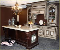 Dark Mahogany Kitchen Cabinets Cabinet 46632 Home Design Ideas