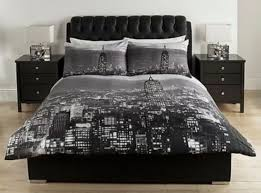 home black and grey damask bedding set double at argos co uk for