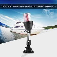 Anchor Light Details About 12v Shoreline Marine Fold Down Stern Anchor Light Pontoon Boat Navigation Lamp