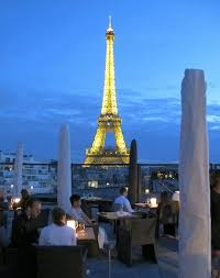 dining with eiffel tower view. les ombres is in the musée du quai branly, but eiffel tower really dining with view l