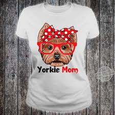 Yorkie Dog Mom With Bandana Cute Dog ...
