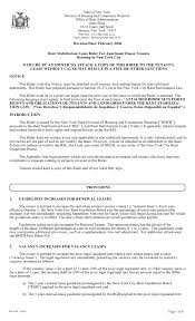 Download Free New York City Lease Rider For Rent Stabilized