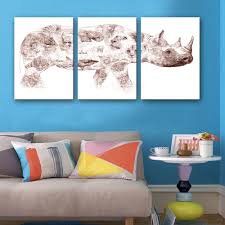 Modern Wall Paintings Living Room Popular Rhino Wall Art Buy Cheap Rhino Wall Art Lots From China