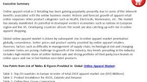 marketreportsonline global online apparel market size trends and marketreportsonline global online apparel market size trends and forecasts 2016 2020