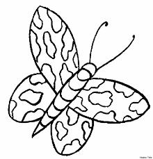 Unico Disegni Da Colorare Facili Farfalle Migliori Pagine Da