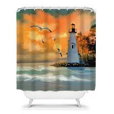 lighthouse shower curtain hooks lighthouse shower curtain and bathroom sets lawnpatiobarn com