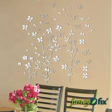 new arrivals vinyl mirror effect wall sticker decal flower shaped home decor mirrors stickers modern wall decal modern wall decals from beijia2016