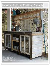 Outdoor Potting Bench Lowes Designs  Bench  Pinterest  Bench Plans For A Potting Bench