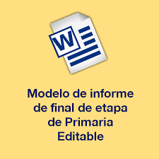 formato de informe en word modelo de informe final de etapa de primaria en un formato editable