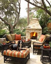 Outdoor Settee Cushion patio southwestern with terracotta tile