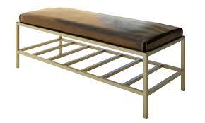 Modern Bedroom Bench Luxury Modern Metal Accent Bench Custom Furniture Bella