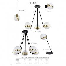 Lampe Kronleuchter Deckenlampe Modern Elfa Design Messing Glas Kugel 1709