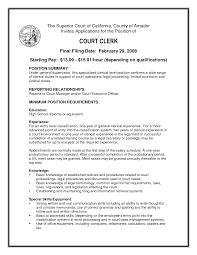 Lovely Court Clerk Objective Contemporary Resume Ideas