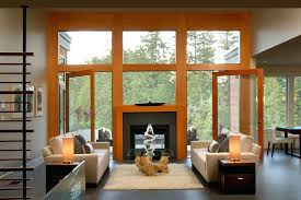 living room contemporary double sided fireplace indoor outdoor living room contemporary with area rug driftwood coffee