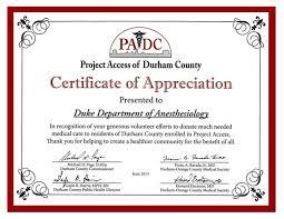 Duke Anesthesiology Receives Padc Appreciation Award Duke