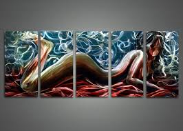 on sensual metal wall art with sensual metal wall art painting 60x24in fabuart