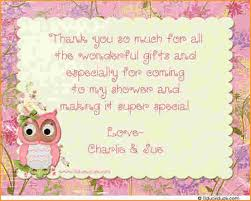 Baby Shower Thank You PoemsOwl Baby Shower Thank You Cards