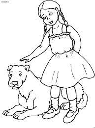 Persone Con Animali Immagine Da Colorare N 9727 Cartoni Da Colorare