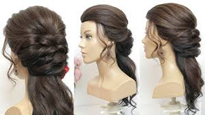 Romantic Half Up Half Down Hairstyle For Prom Hair Tutorial