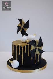 black gold drip cake by emma stewart