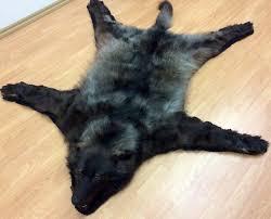 polar fur traders canada wolf fur rug