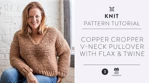 Flax And Wool Designs How To Knit A Cropped V Neck Pullover For The Fall With Flax Twine
