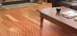 radiant heat over hardwood floor image