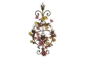 5 7 italian chandelier with porcelain flowers