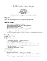 Civil Engineer Resume Example Resume Samples