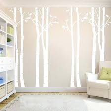 home decor decals birch tree forest family vinyl wall mural art removable nursery living study bedroom