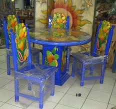 mexican painted furnituredining tables carved and painted  Mexican Furniture Hacienda