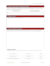 Free Evaluation Templates Staff Performance Appraisal Form Evaluation Template Free Filled