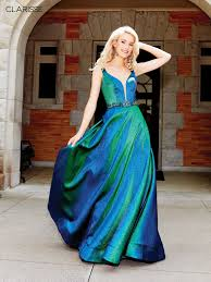 Clarisse Dress 3859 Iridescent Green Ball Gown Prom 2019