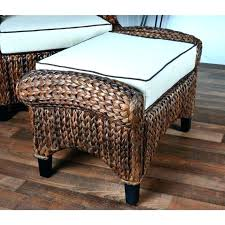 seagrass ottoman coffee table ottoman round storage rectangle pottery barn handmade brown woven coffee table round