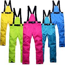 <b>Unisex</b> Ski / Snow Pants <b>Windproof</b>, <b>Waterproof</b>, Thermal / Warm ...