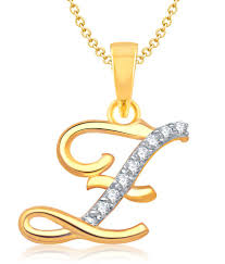 70 off on vk jewels alphabet collection initial pendant letter z gold and rhodium plated on snapdeal paisawapas com