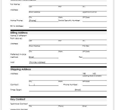 Customer Information Template Customer Information Form Microsoft Word Excel Templates