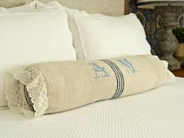 bed bolster pillow.  Bolster Handmade Bolster Pillow On Bed Throughout P