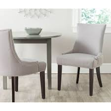 safavieh lester arctic grey cotton blend dining chair set of 2