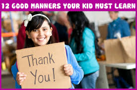 good manners your kid must learn