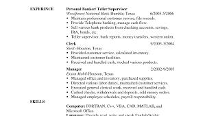 Banking Skills For Resume Resume Applying For Bank Teller Bank Teller Cover Letter Examples 22