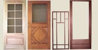 wood storm screen doors for bungalows