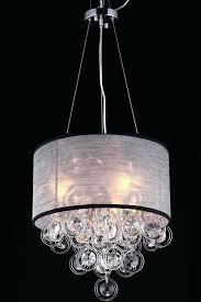 black drum shade chandelier black shade crystal