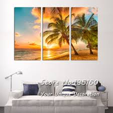 Paintings In Living Room Beach Painting Picture Triple Paintings For Living Room Bedroom
