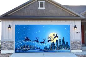 3d garage door covers decorations outdoor wall banners outside home decor stickers gd24