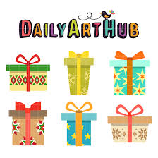 Christmas Gifts Clip Art Set Daily Hub Q