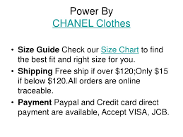 Ppt Discount Chanel Clothes Powerpoint Presentation Free