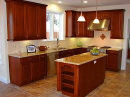 Small Kitchen Layout With Island Classic L Shaped Kitchen Interior With White Polished Teak Wood